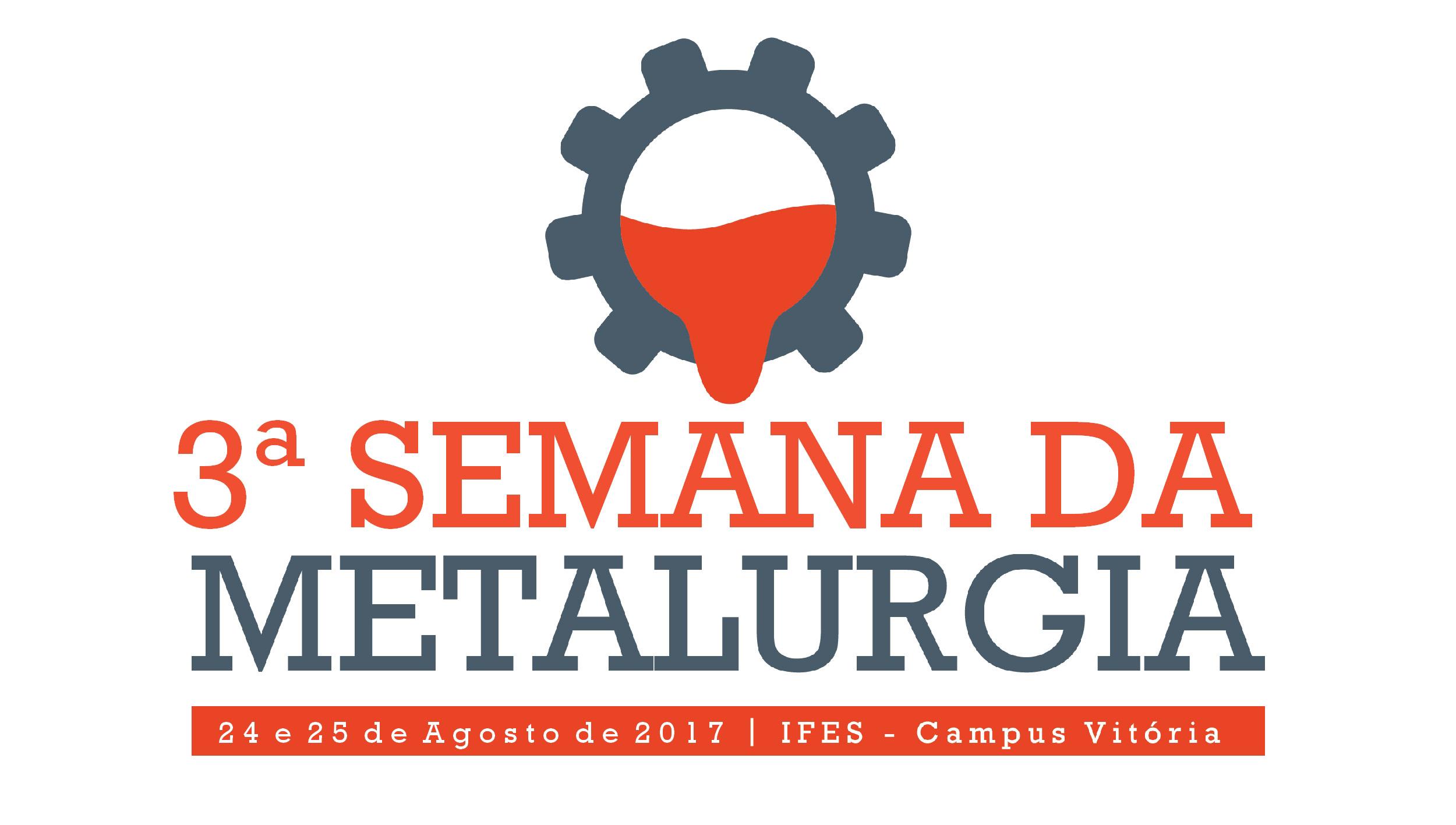 Últimas vagas para a 3ª Semana da Metalurgia do Campus Vitória