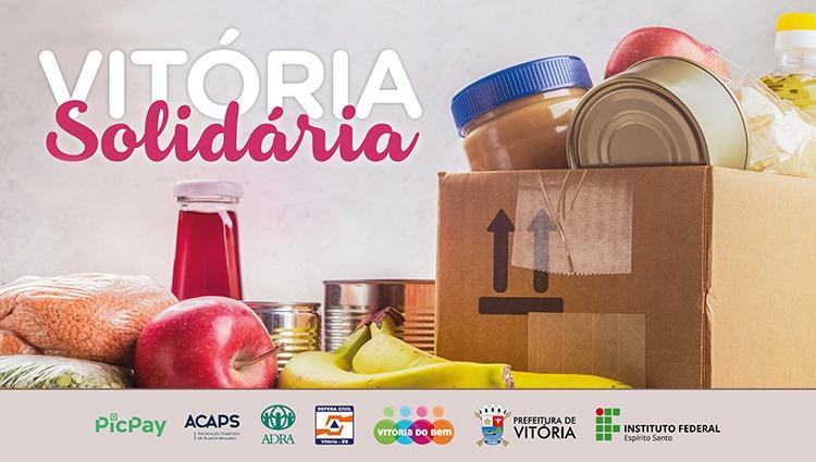 Ifes, Acaps e Prefeitura de Vitória realizam campanha de arrecadação de alimentos e materiais de limpeza
