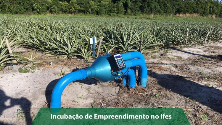 Empresa incubada no Campus São Mateus desenvolve solução que reduz consumo de água e energia na irrigação