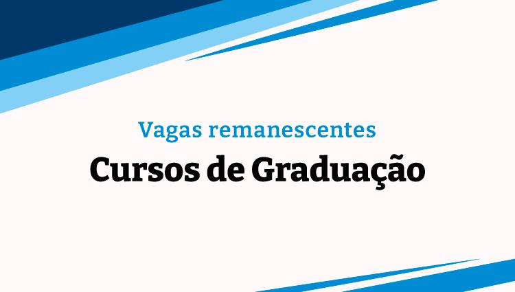 Ifes oferta vagas remanescentes em três cursos de graduação